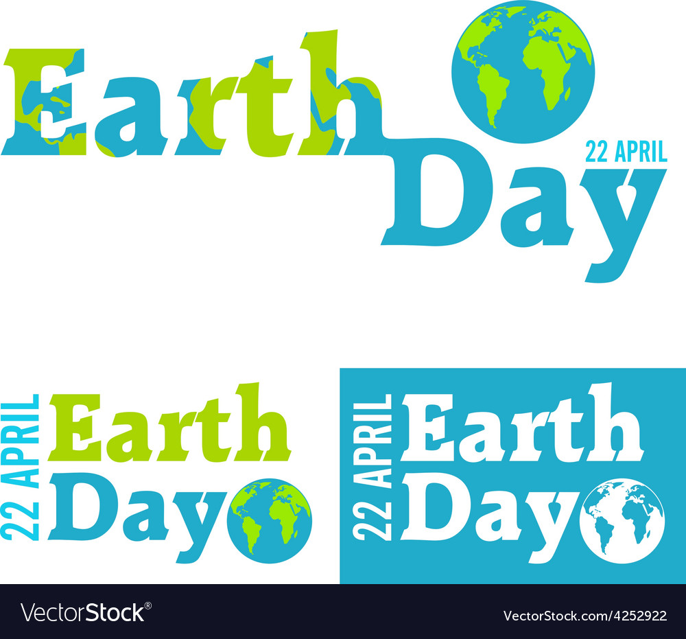 Earth day in blue vector
