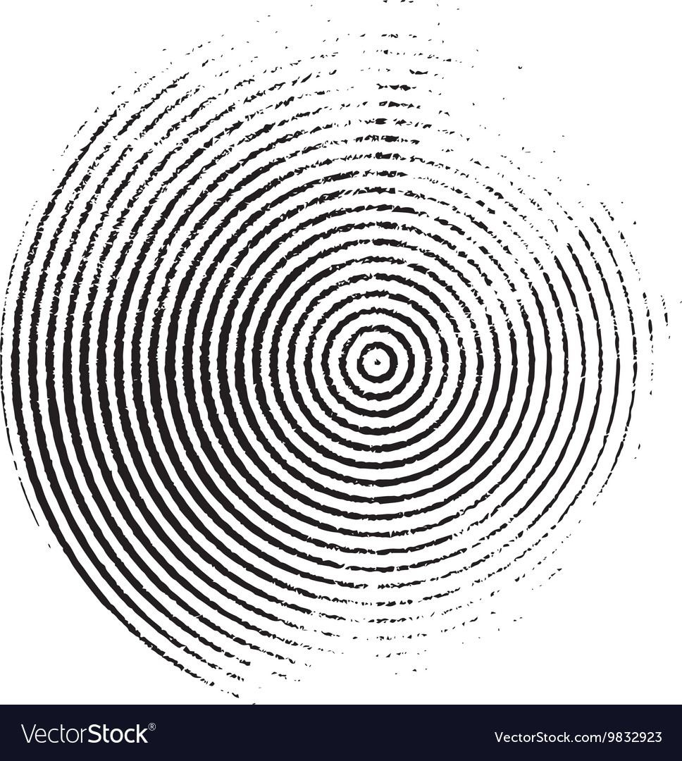 Black grunge circle of the rings vector