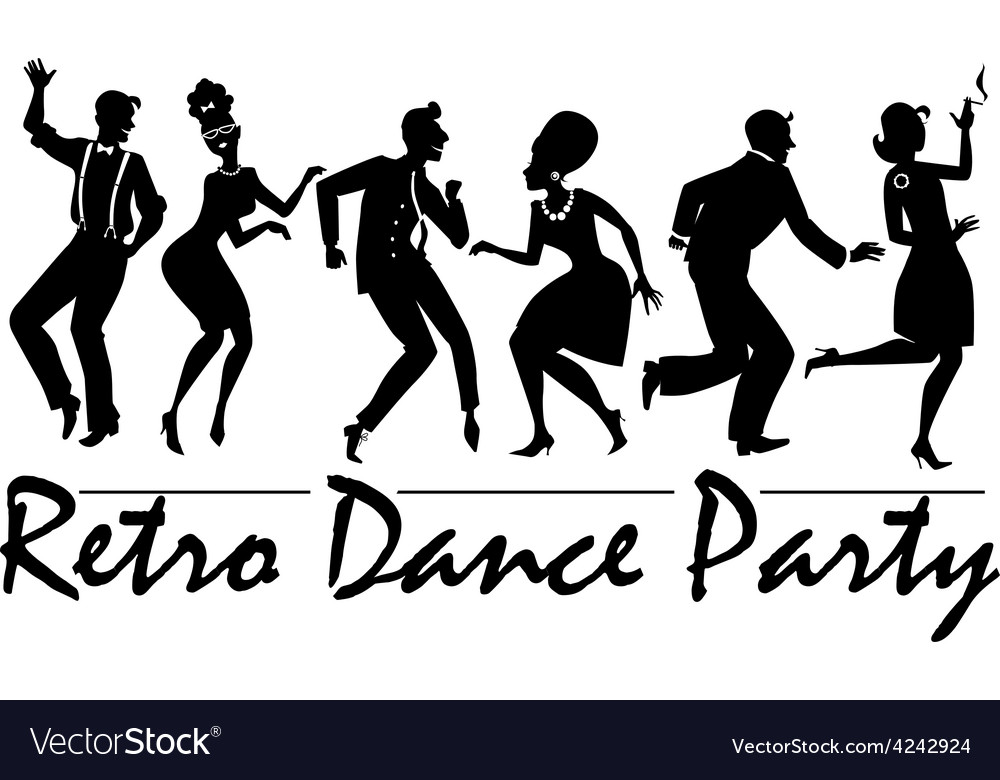 Retro dance party vector