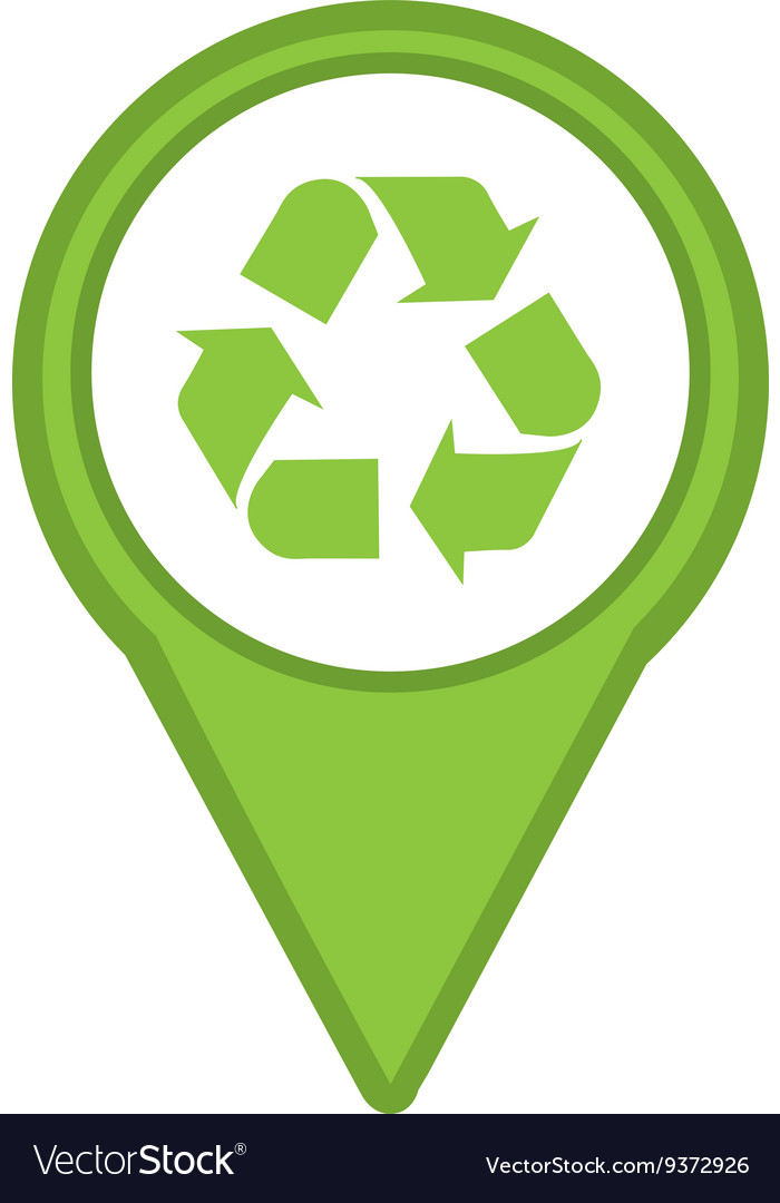Recycle symbol isolated icon design vector