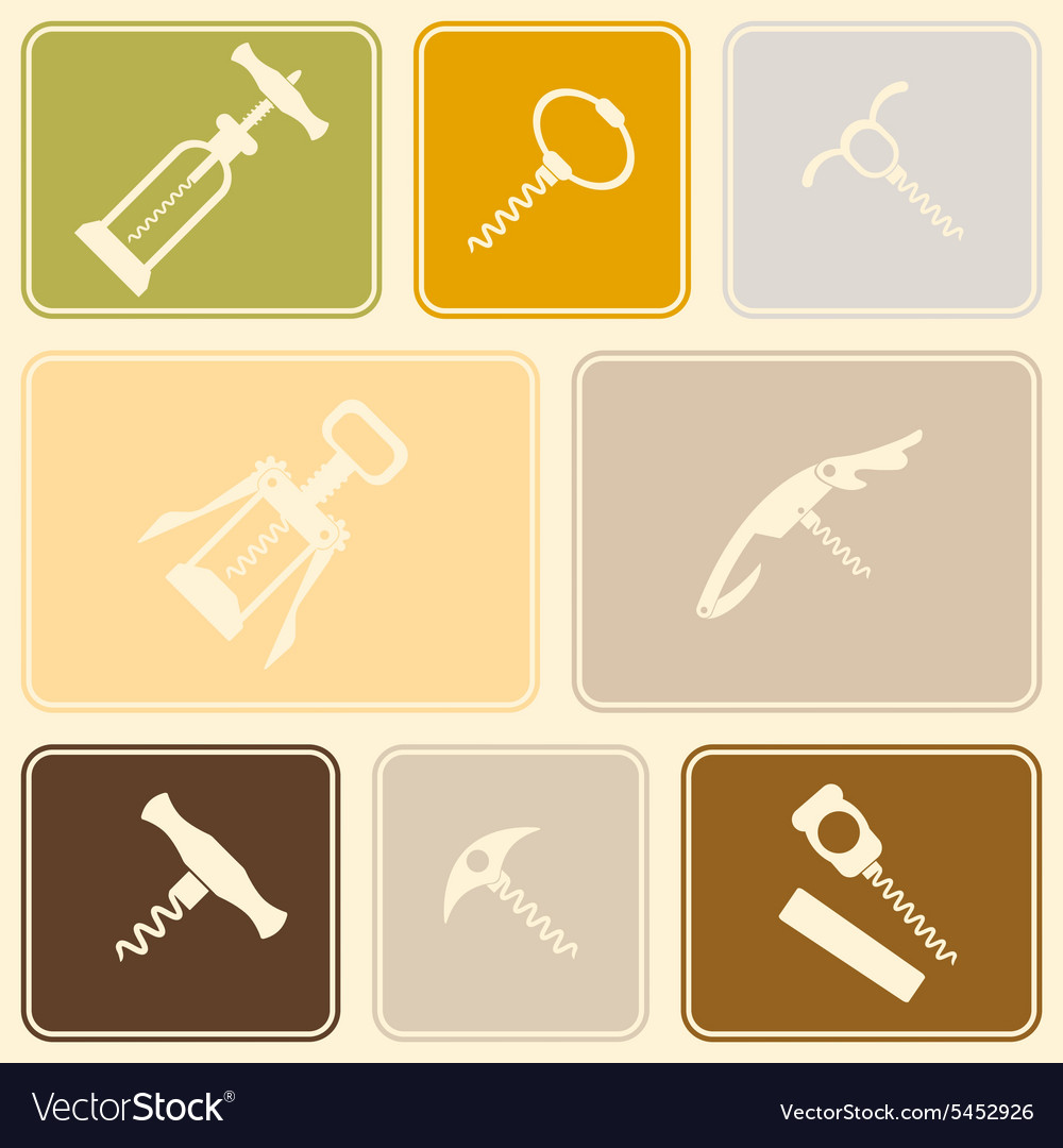 Seamless background with corkscrew vector