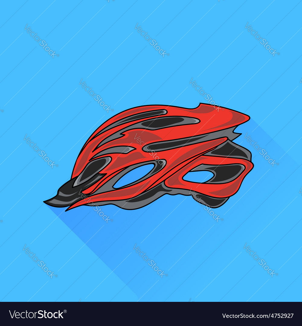 Bike helmet vector