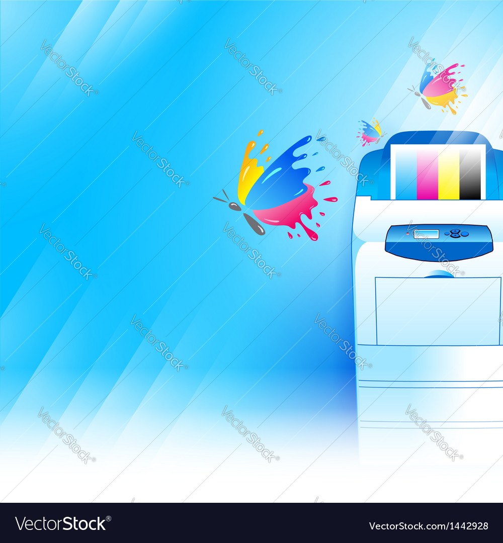 Printer background abstract blue texture vector
