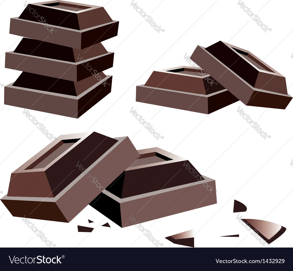 Chocolate bars vector