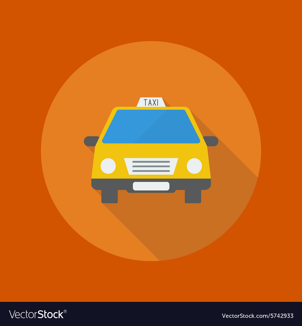 Travel flat icon taxi vector