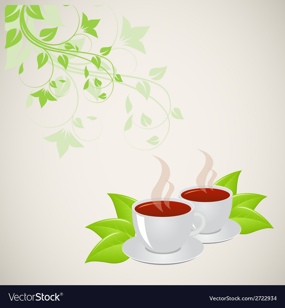 Mugs with floral pattern vector