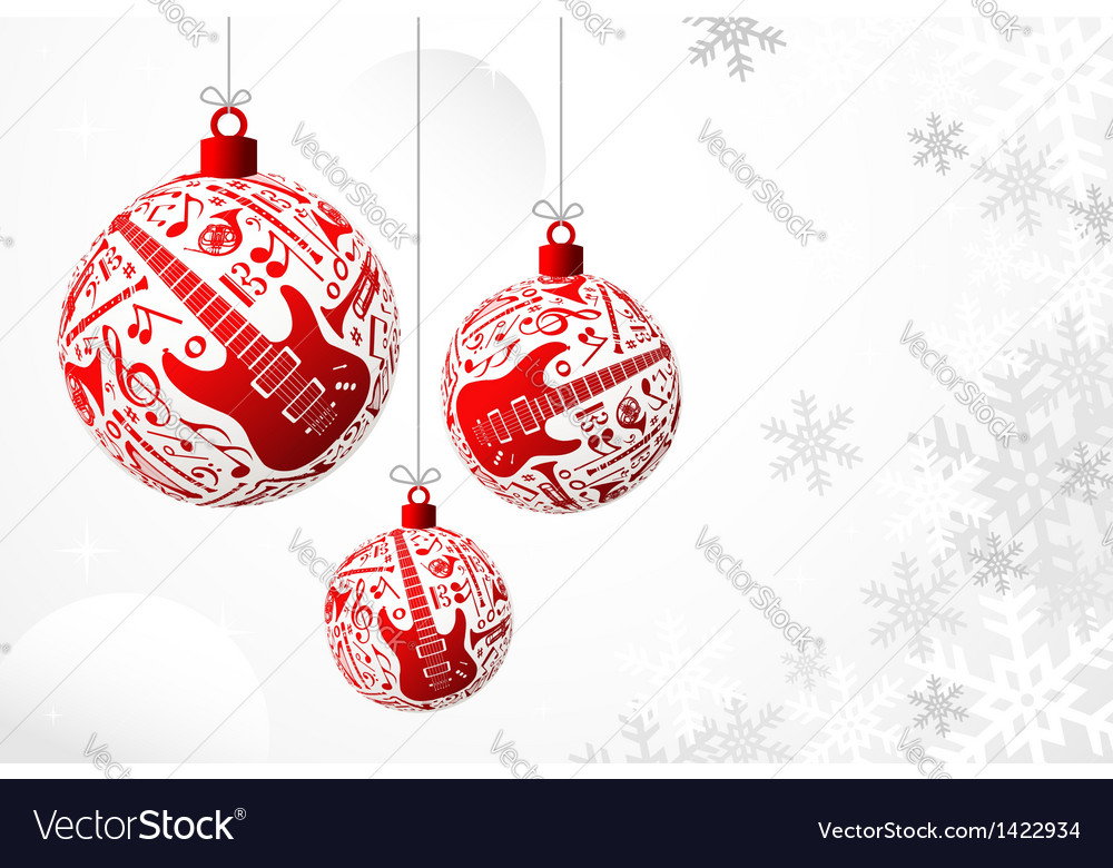 Music christmas card vector