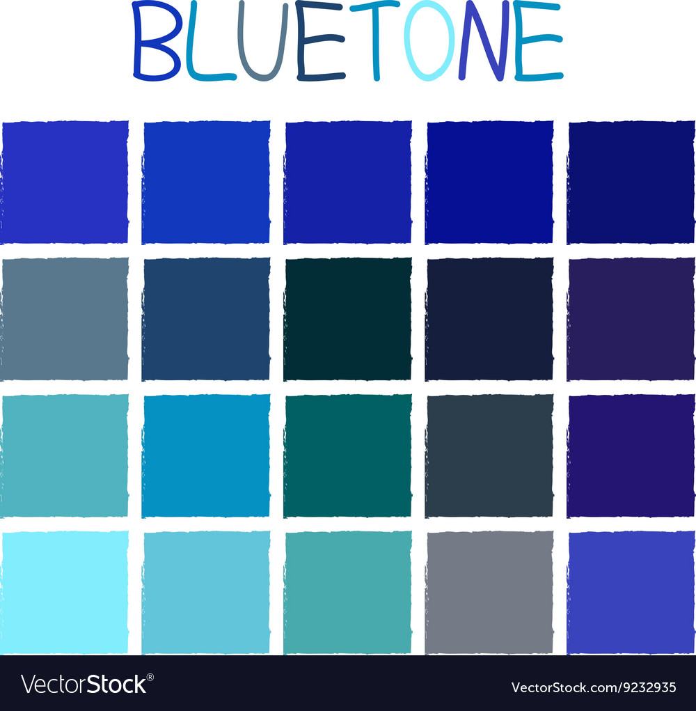 Bluetone color tone without name vector