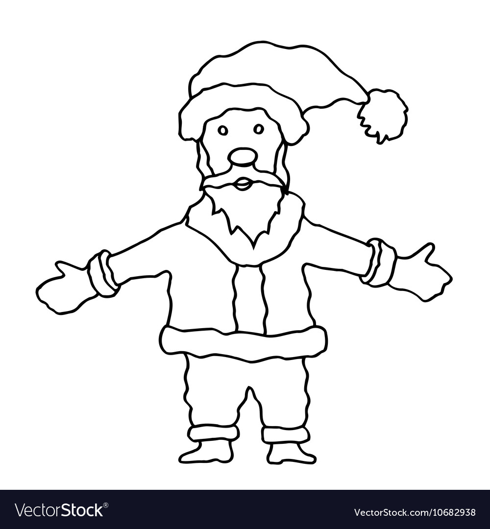 Cartoon santa clause vector