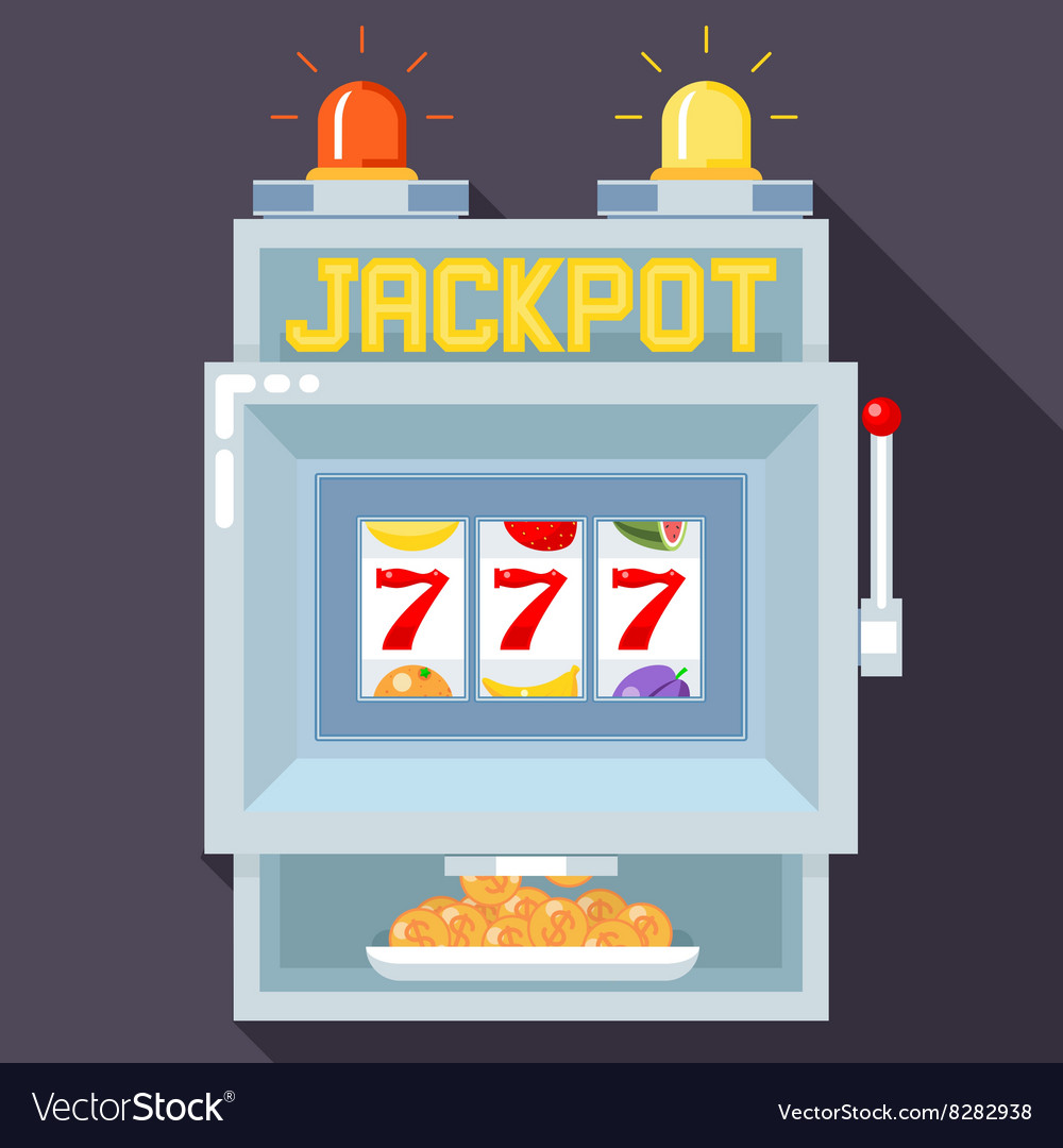 Casino slot gambling machine ui game vector