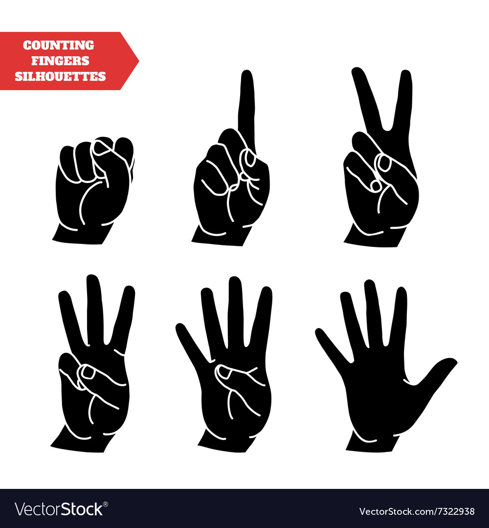 Counting hands set vector