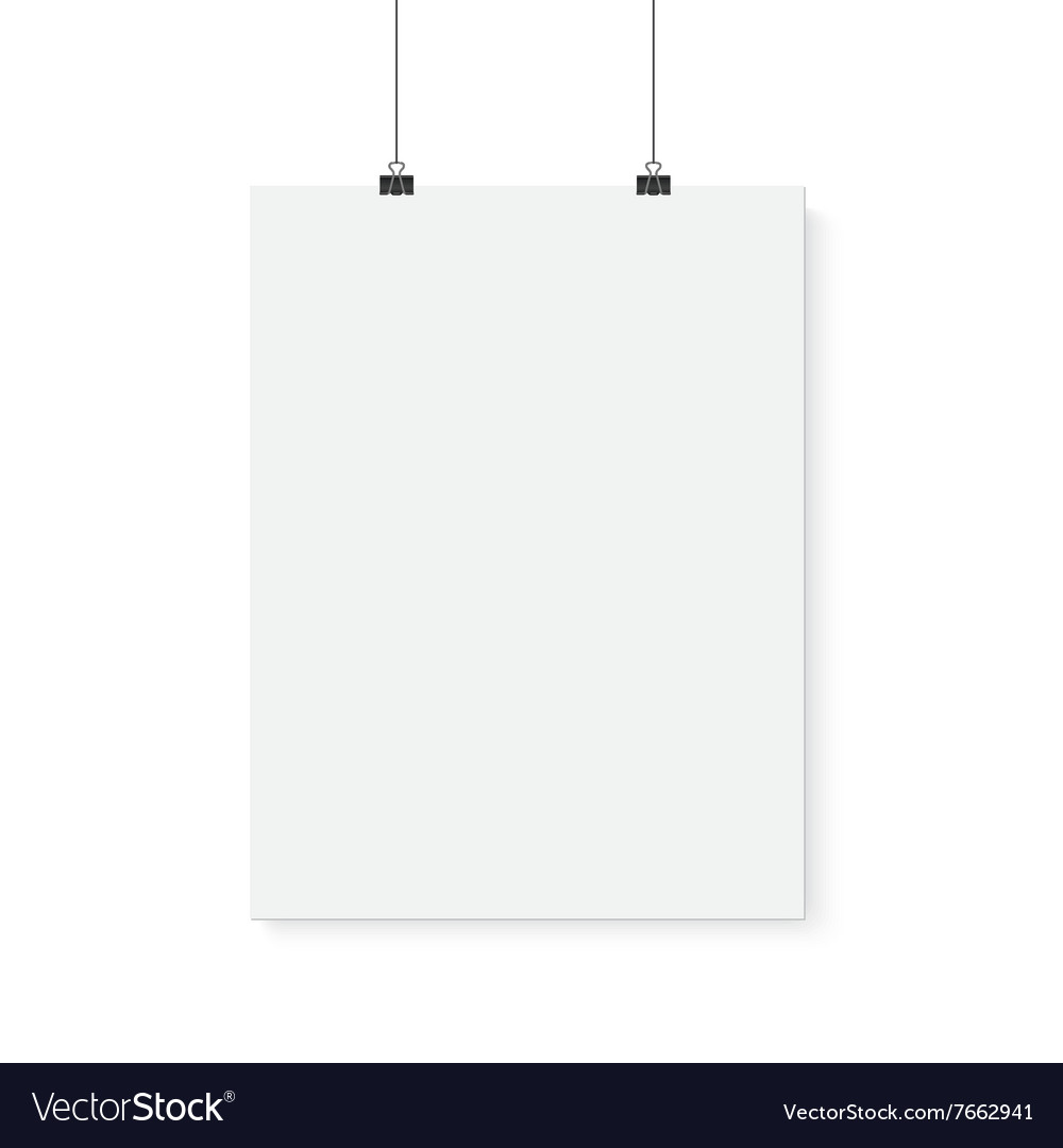 Isolated poster mockup realistic vector
