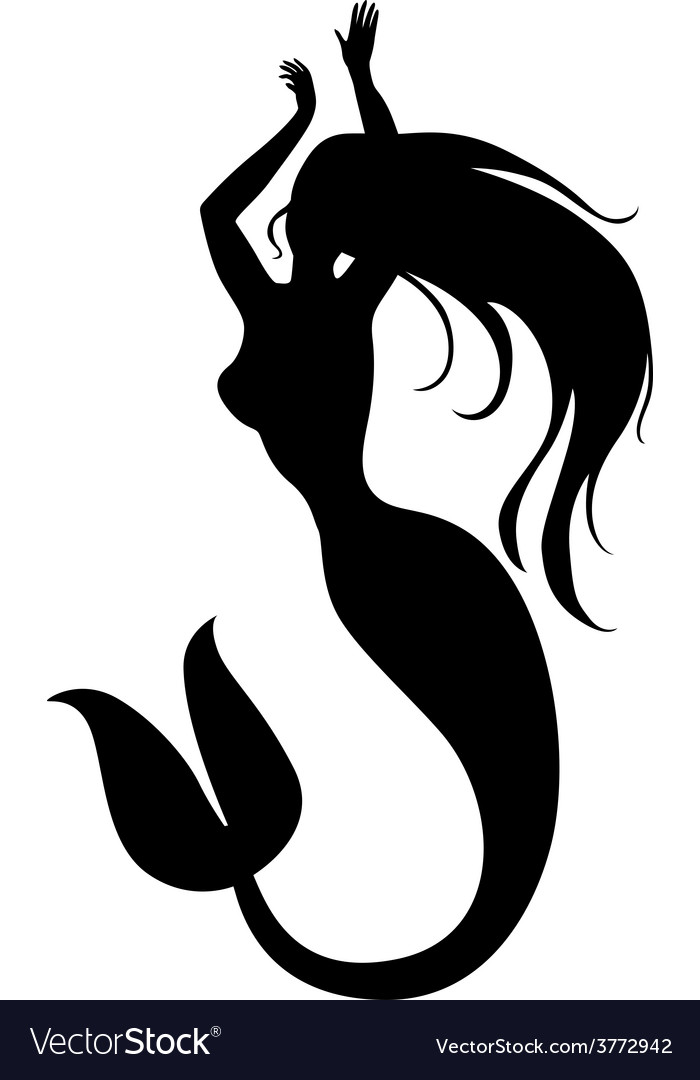 Mermaid dance vector