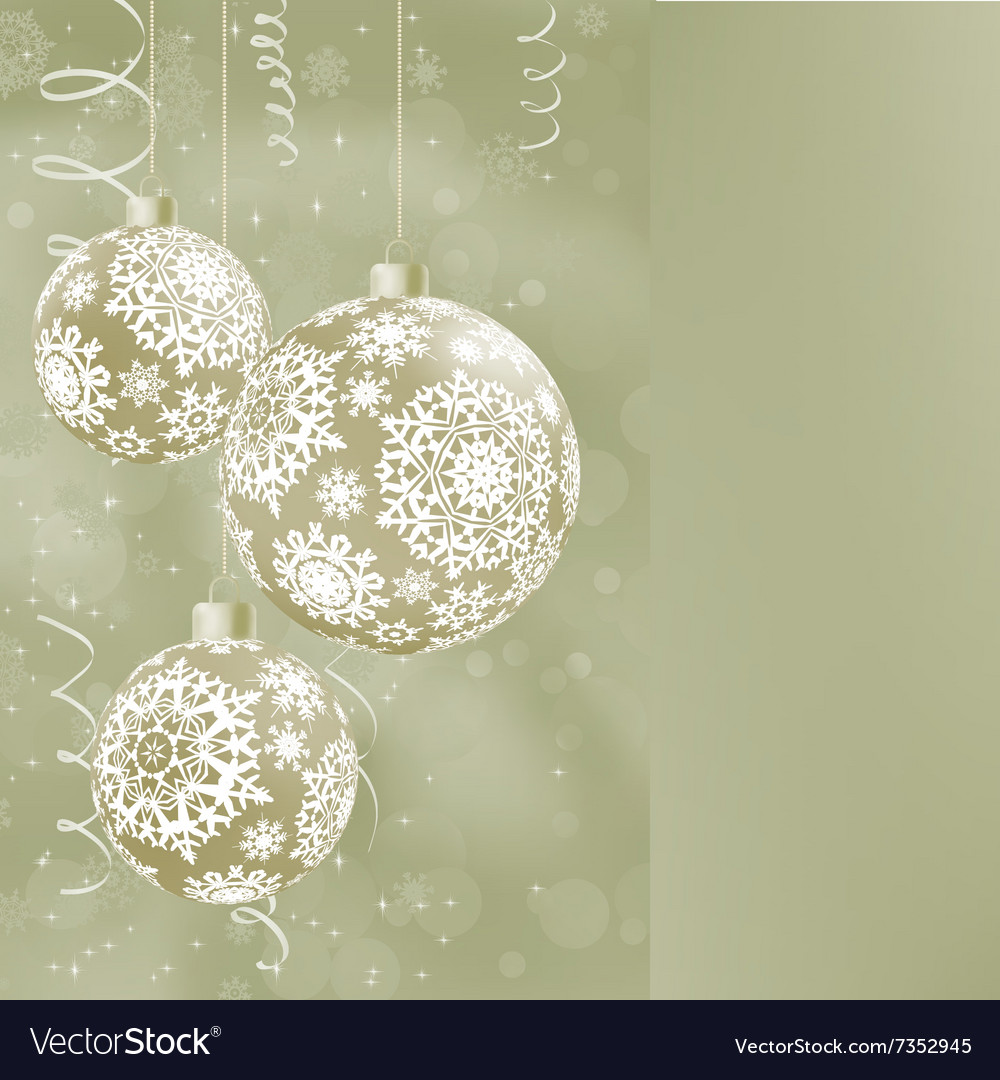 Elegant christmas balls on abstract eps 8 vector