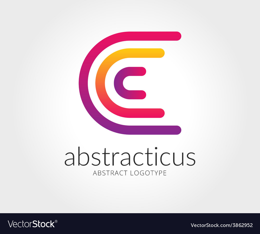 Abstract c character logo template for vector