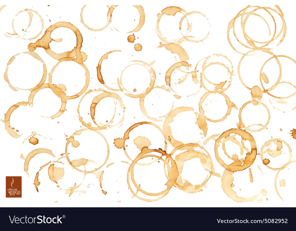 Coffee stain watercolor vector