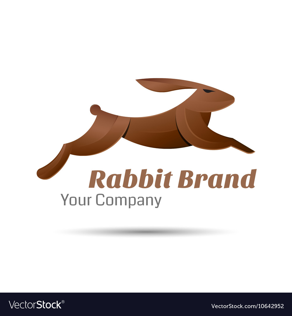 Rabbit logo creative colorful abstract vector