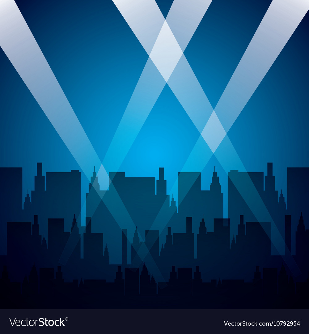 Cityscape with reflector lights vector