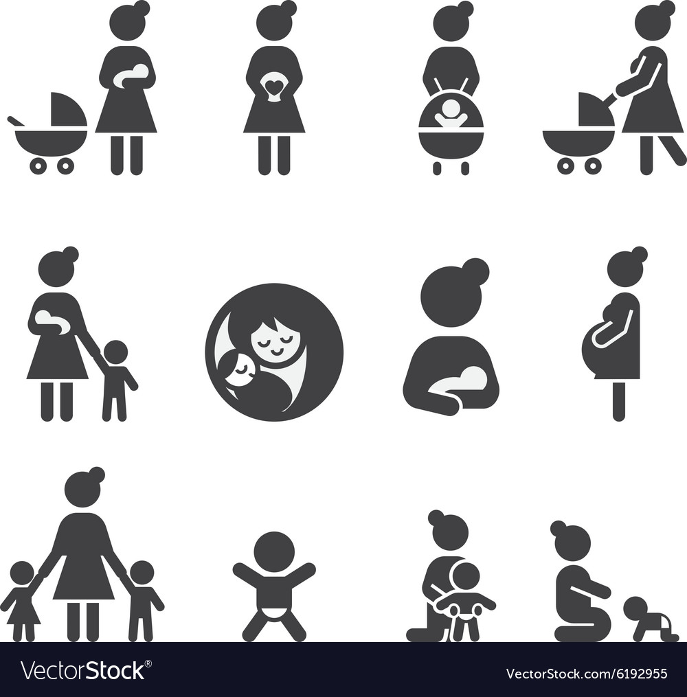 Morther icon set vector