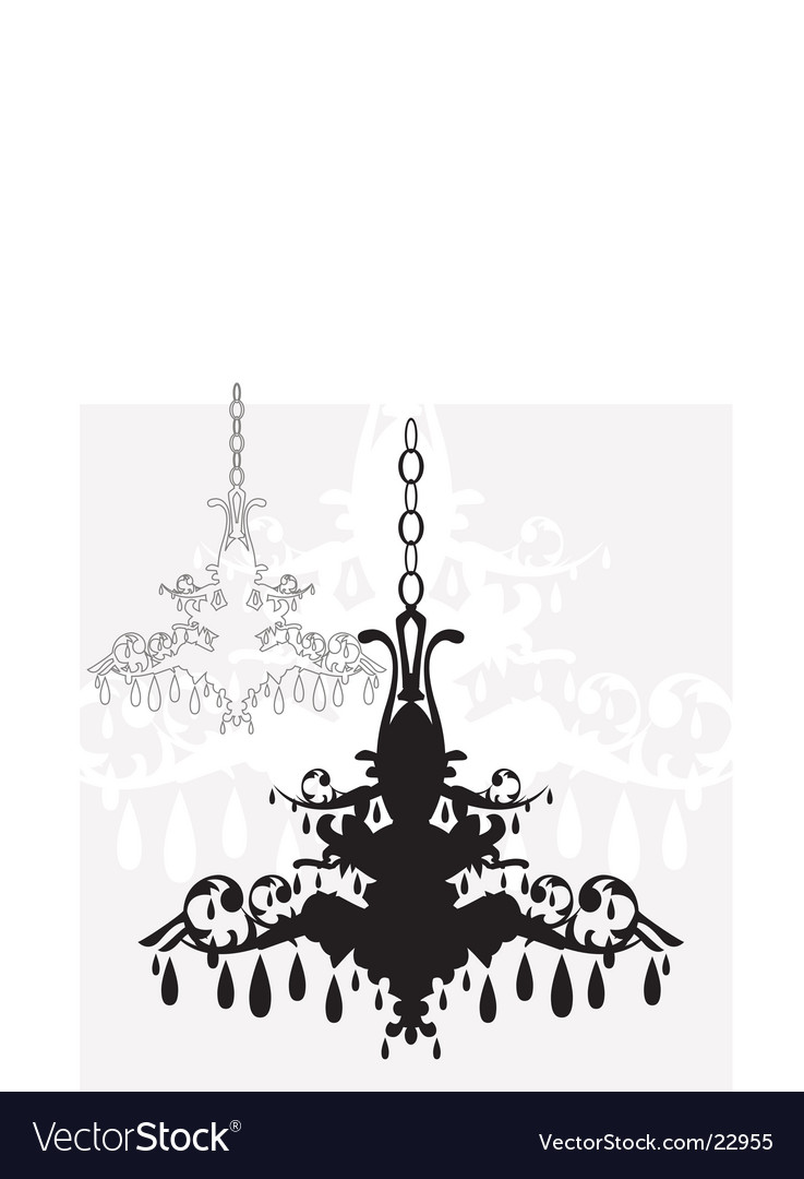 Simple chandelier graphic vector
