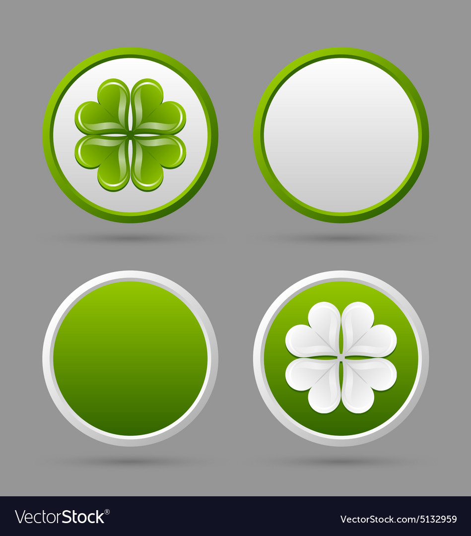 Clover icons vector