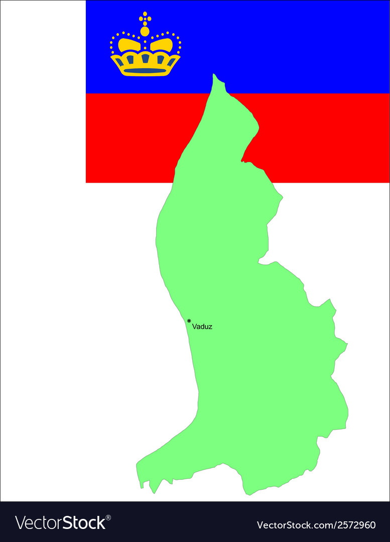 6142 liechtenstein map and flag vector