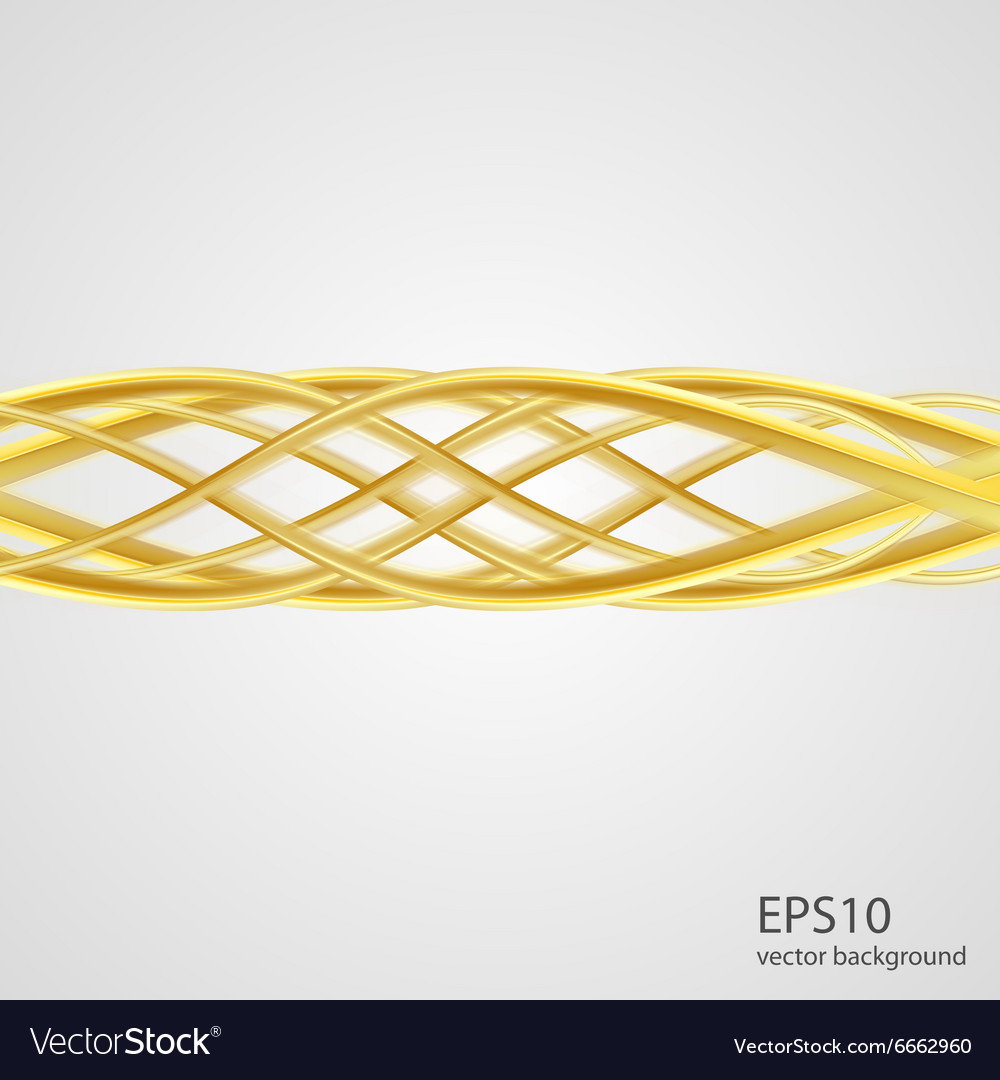 Abstract gold wave luxury background vector
