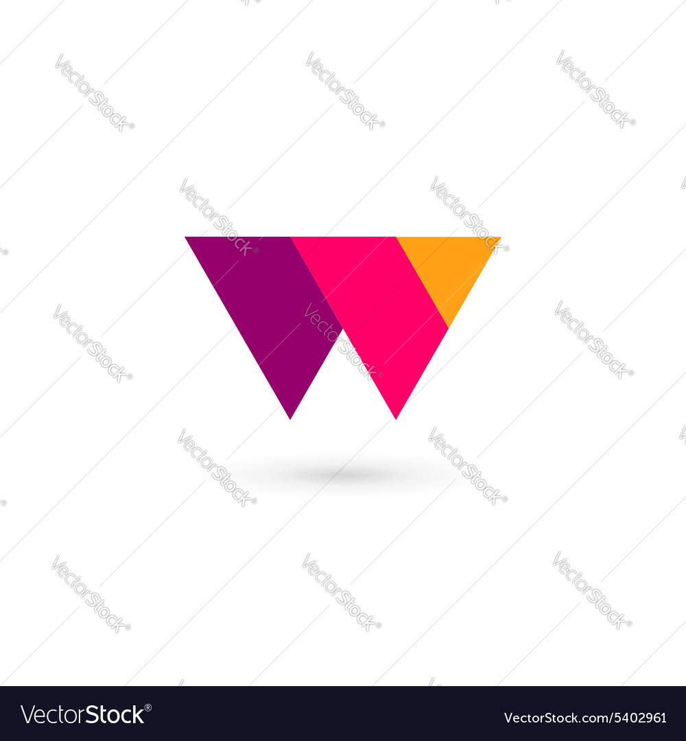 Letter w logo icon design template elements vector