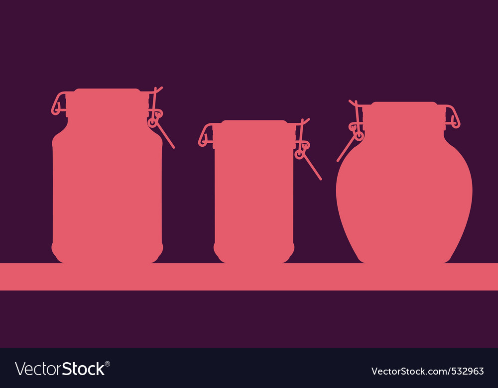 Three different kitchen jars vector