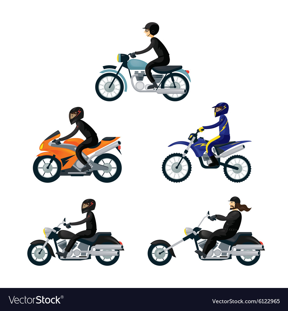 Motorcycle riders bikers vector