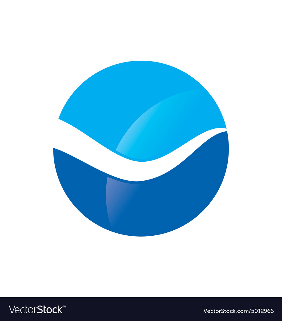 Wave water icon abstract logo vector