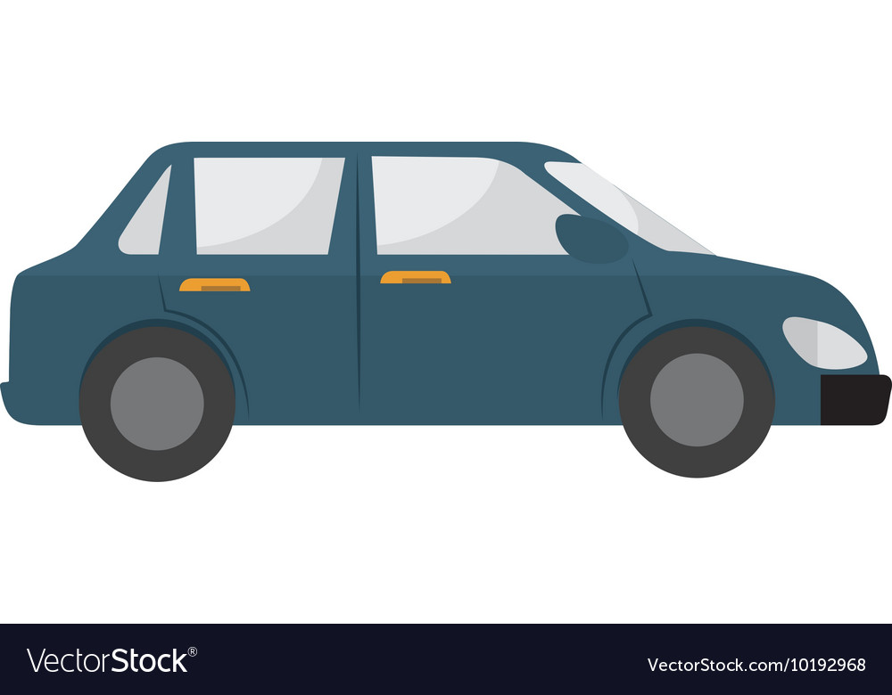 Car side auto vehicle icon graphic vector