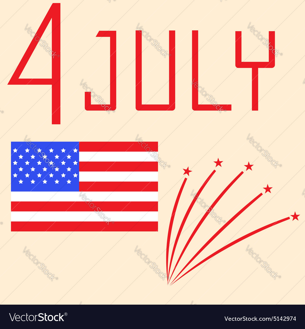 Us independence day  july 4th vector