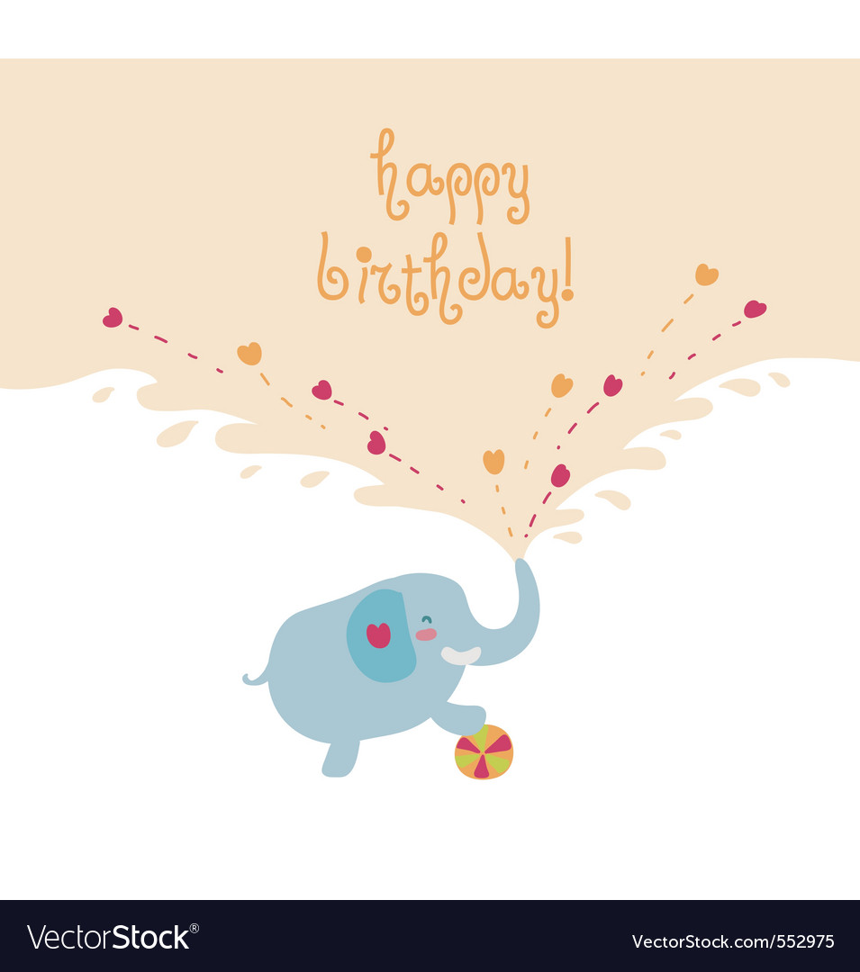 Elephant card vector
