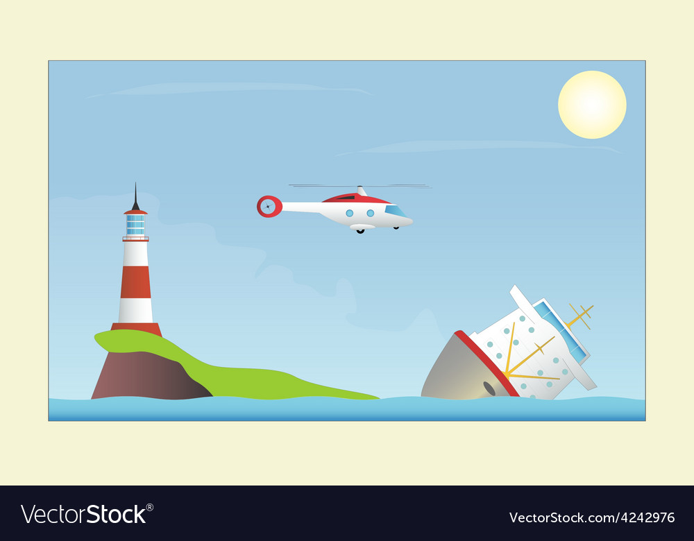 A ship in distress vector
