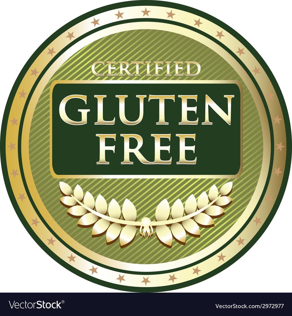Gluten free green label vector