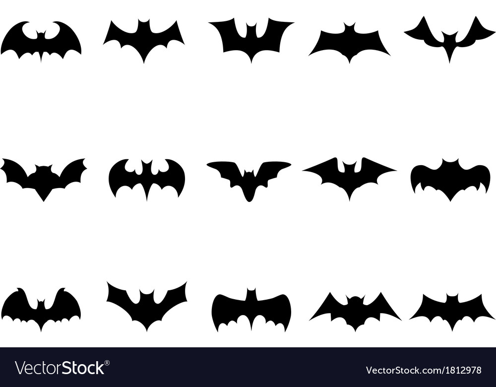 Bat icons vector