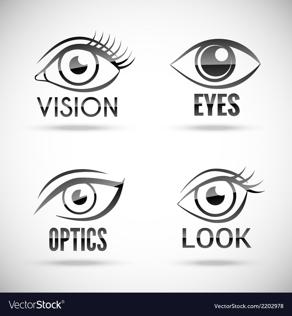 Eyes icons set vector