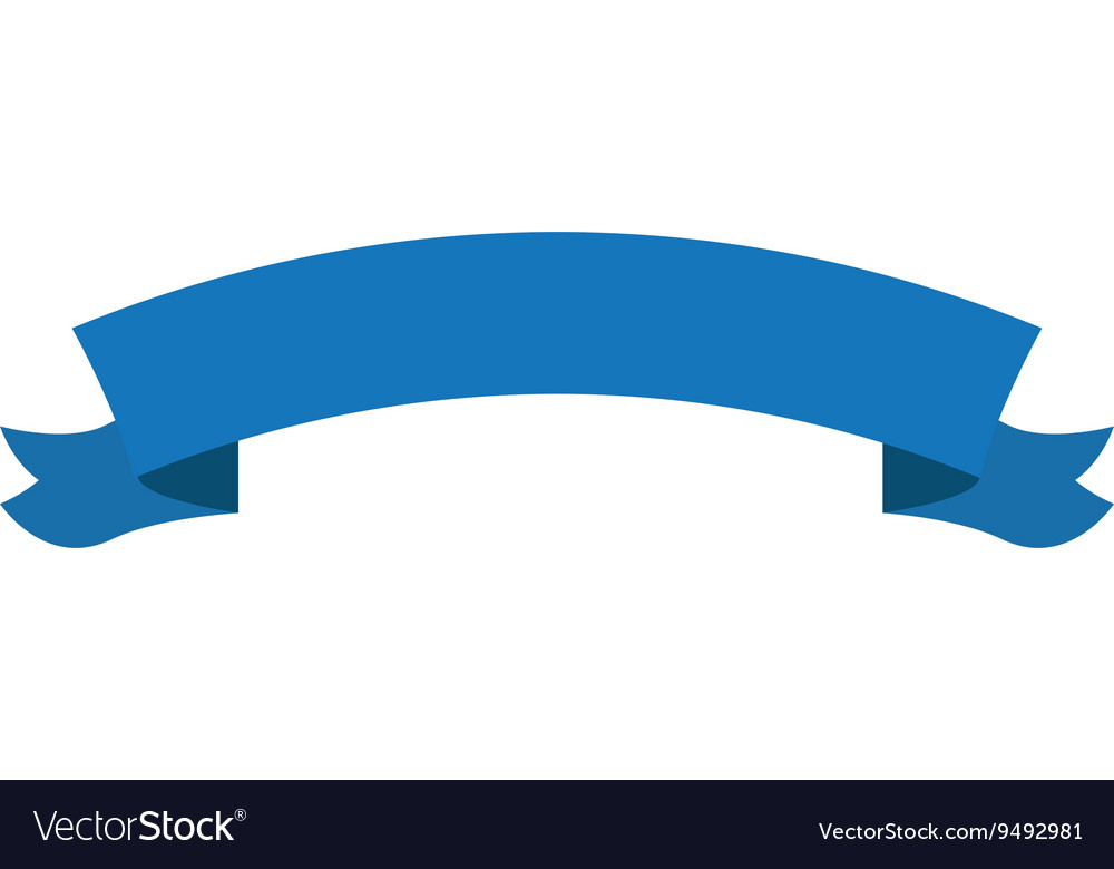 Blue banner icon vector