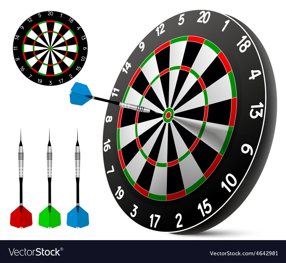 Dart and dartboard vector