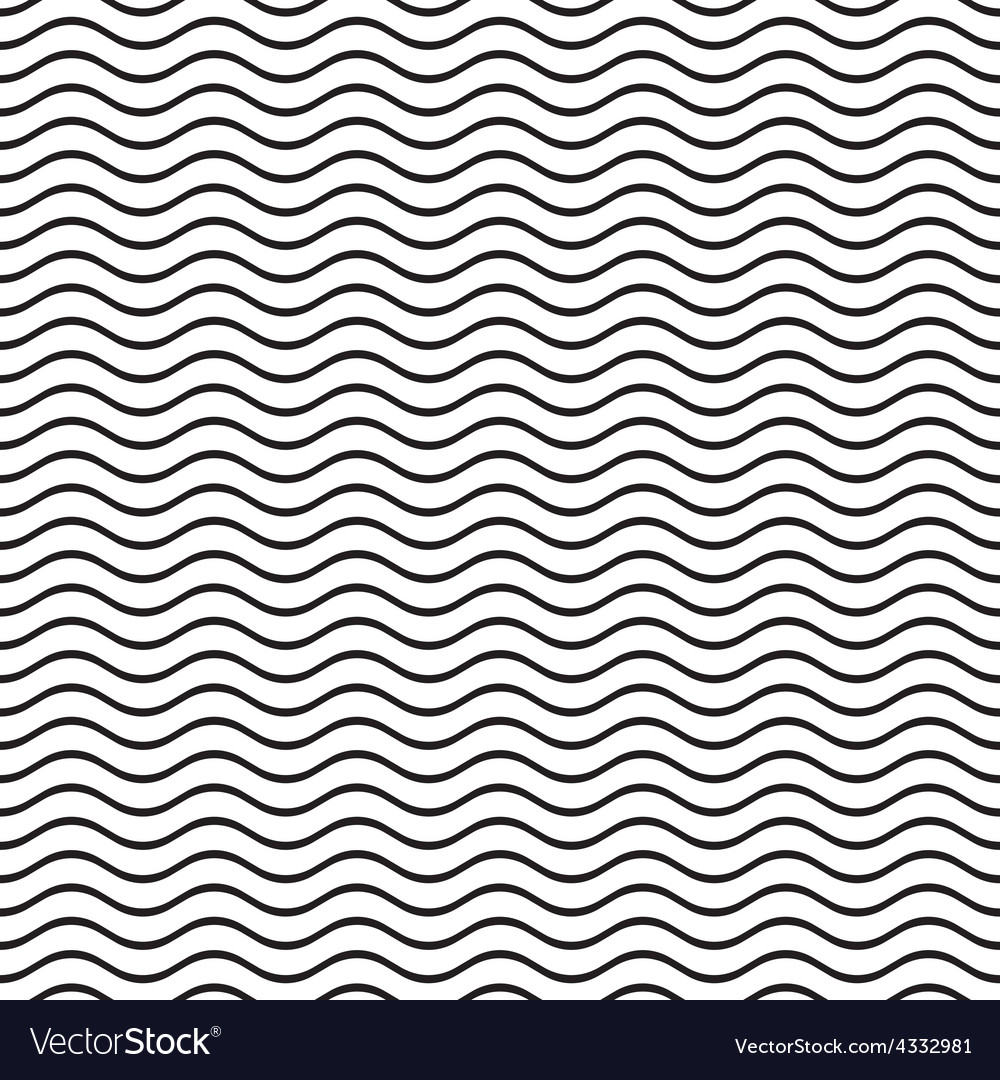 Seamless wavy line pattern vector