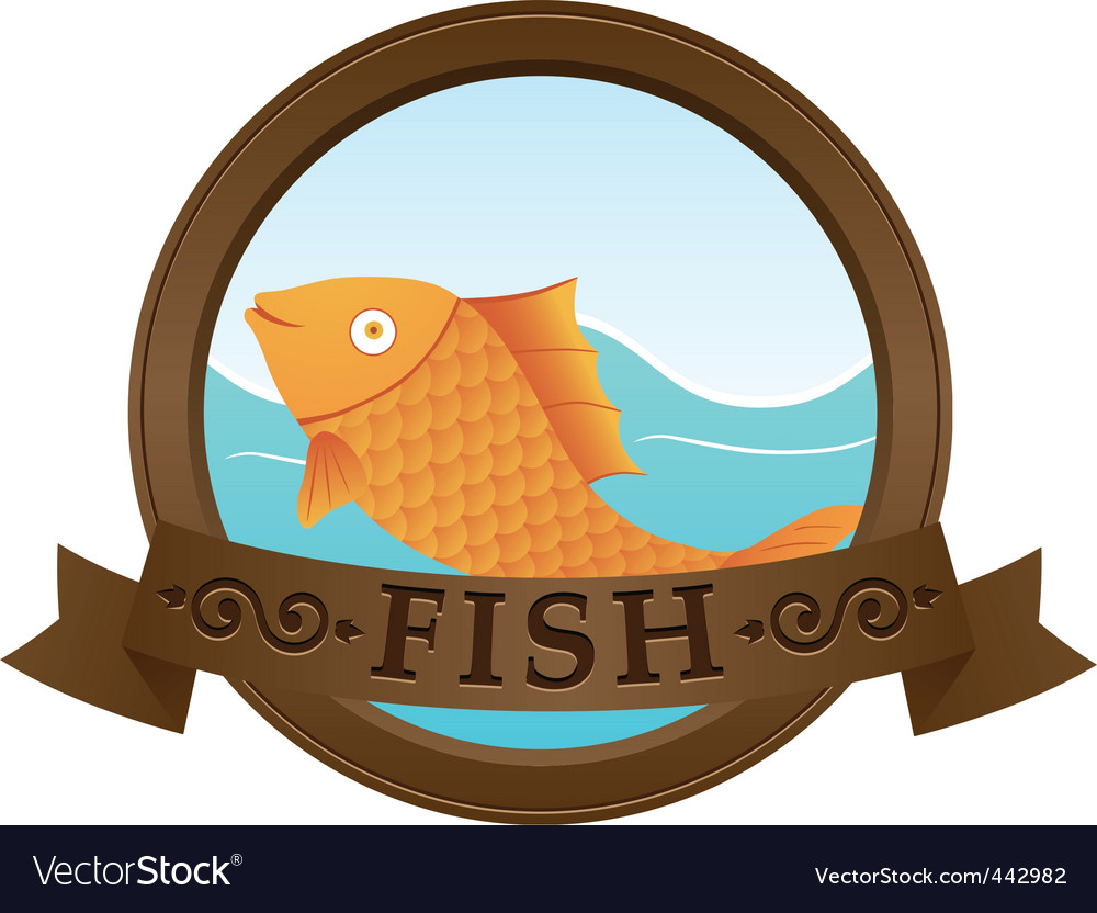 Gold fish logo vector