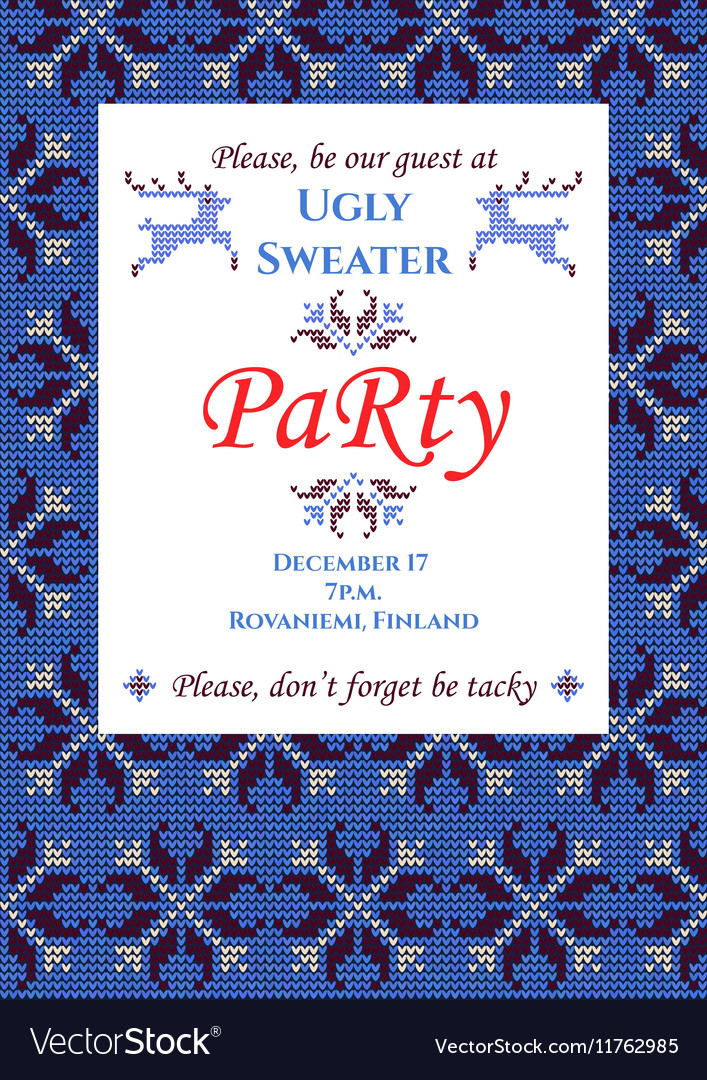 Ugly sweater party vector
