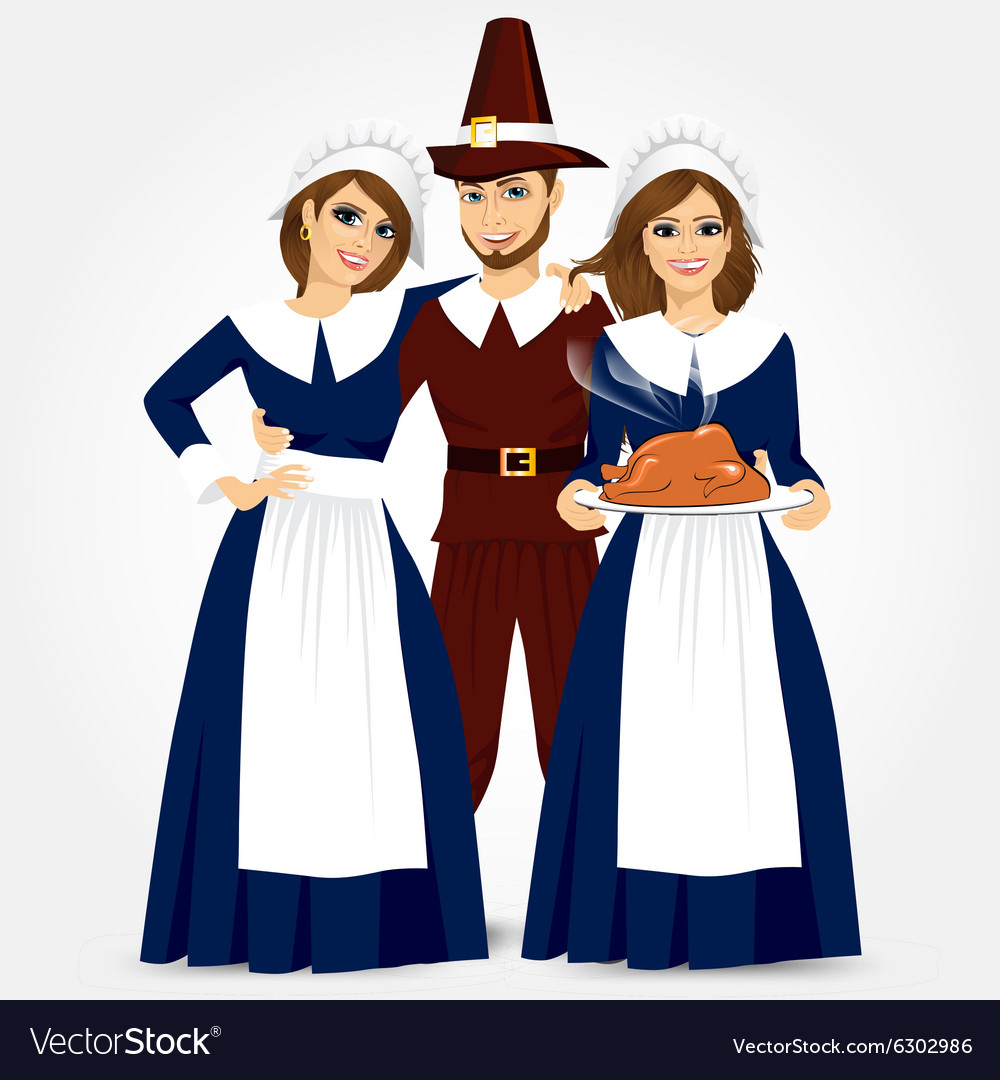 For thanksgiving of the pilgrims vector