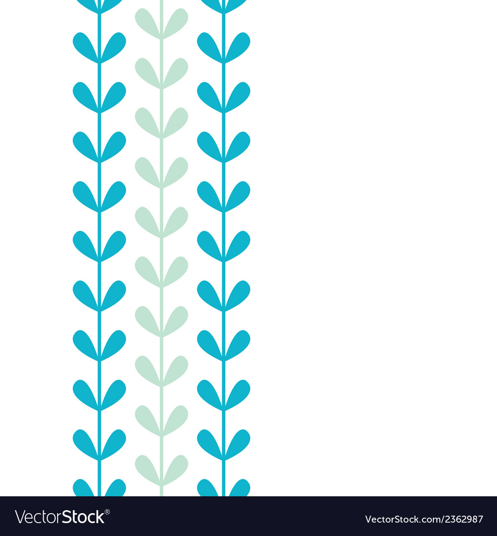 Abstract vines leaves vertical seamless pattern vector