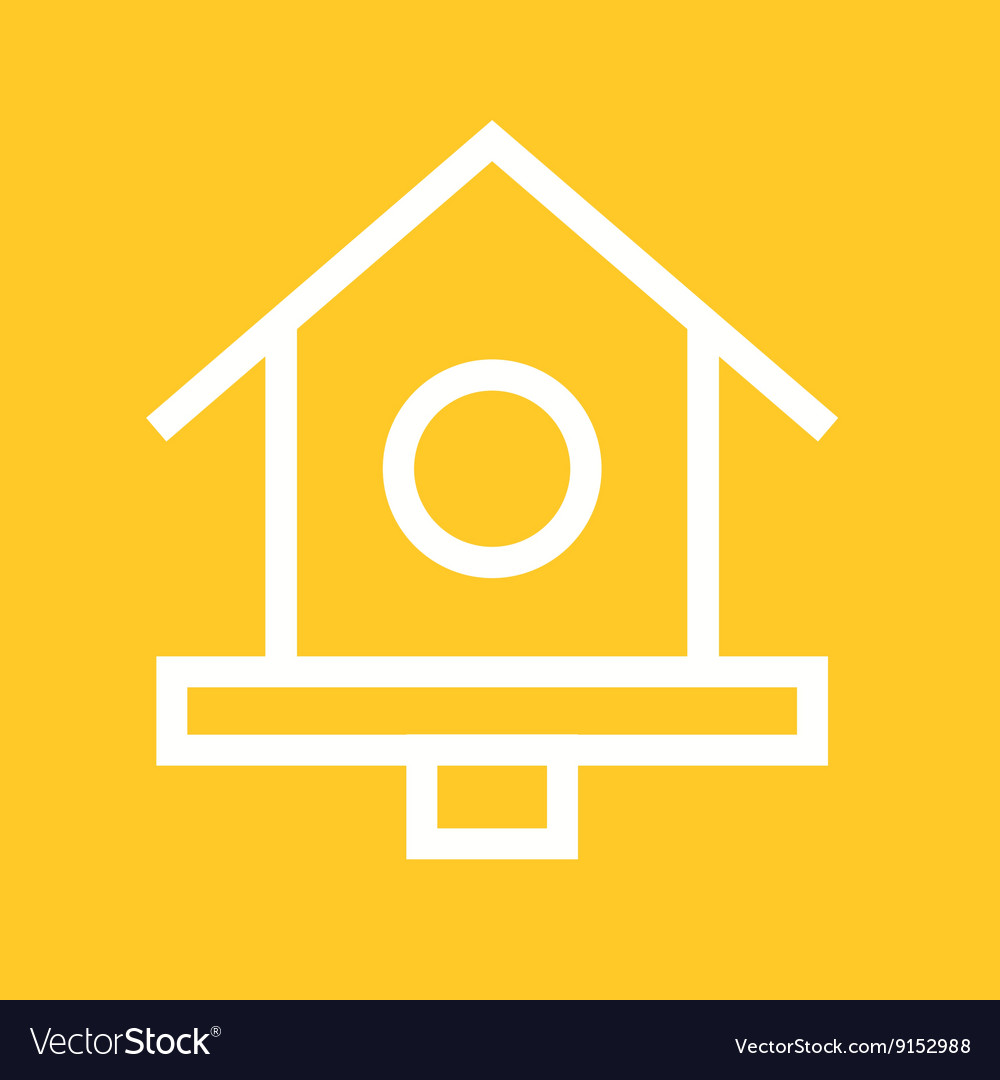 Bird home vector