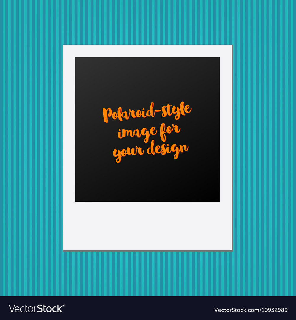 Abstract creative photo frame for web and vector
