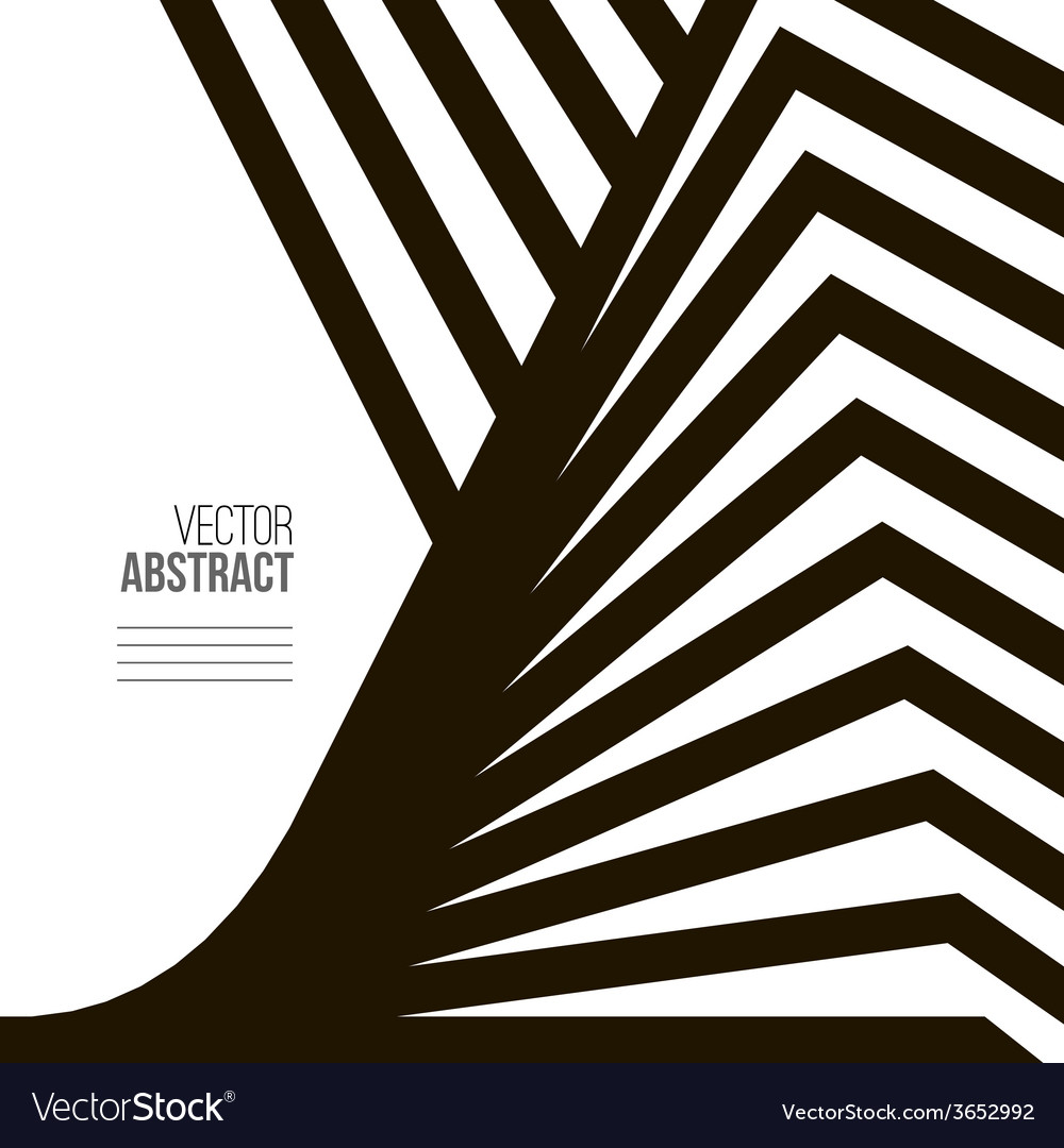 Geometric black and white background architecture vector