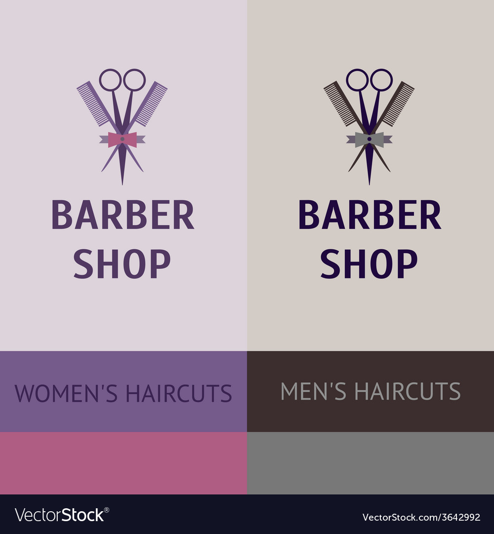 Heraldic logo for a hairdressing salon business vector
