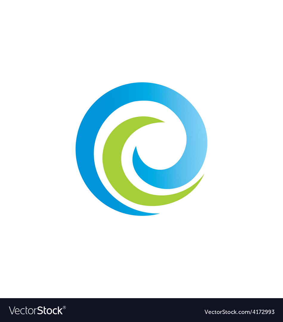 Swirl round abstract ecology logo vector